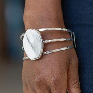 Paparazzi Canyon Dream White Bracelet